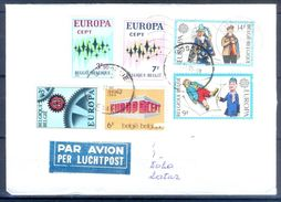 D373- Postal Used Cover Post From Belgium To Qatar. Joint Issue. EUROPA. - Belgium