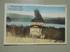 BELGIQUE LIEGE BARRAGE DE LA GILEPPE LE LION ET LE PONT - Gileppe (Barrage)