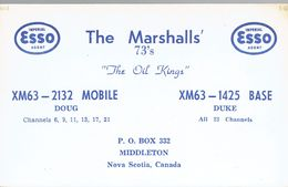 Esso Very Old QSL From The Oil Kings Doug & Duke The Marshalls' Middleton NS Canada 3/1968 - CB