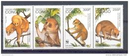 Ncw218bs WWF FAUNA ZOOGDIEREN ANGWANTIBO BEERMAKI BÄRENMAKI QWO 1997 PF/MNH - W.W.F.