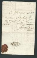 Déboursé D'Arras  Sur Lac De 1772 ??  NON SIGNALE  Ax121 - Postmark Collection (Covers)