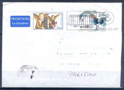 D387- Postal Used Cover Post From Sweden To Pakistan. Joint Issue. Birds. - Sweden