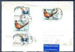 D388- Postal Used Cover Post From Sweden To Pakistan. Joint Issue. Birds. - Sweden