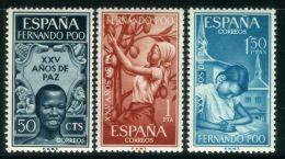 FERNANDO POO ( POSTE ) : Y&T N°  231/233  TIMBRES  NEUFS  SANS  TRACE  DE  CHARNIERE , A  VOIR . - Fernando Poo