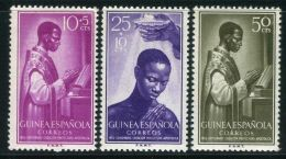 GUINEE  ESPAGNOLE ( POSTE ) : Y&T N°  365/367  TIMBRES  NEUFS  SANS  TRACE  DE  CHARNIERE , A  VOIR . - Guinée Espagnole