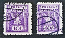 POLOGNE DU NORD 1919 - OBLITERES - YT 165 - VARIETES DE TEINTES ET D'OBLITERATIONS - ....-1919 Übergangsregierung