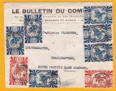 1943 - Enveloppe Commerciale De Nouméa, Nouvelle Calédonie Vers Le Quartier Général Du Commandement Pacifique Sud - Nueva Caledonia