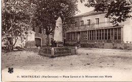 MONTREJEAU  Place Carnot Et Monument - Montréjeau