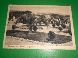 Cartolina Marina Di Massa - Giardini A Mare 1940 Ca - Massa