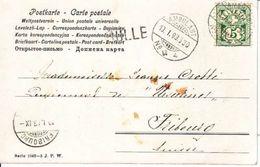 """CACHET LINEAIRE DE """" BULLE  """" SUR CARTE POSTALE - 1903 - DOS UNIQUE - ILLUSTRATION, ENFANTS ET LE CHIEN - Storia Postale"""