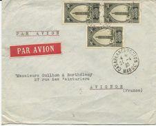 LETTRE PAR AVION 1930 AVEC 3 TIMBRES - Cartas
