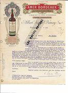 16 - Charente - MONTMOREAU - Facture KÖPKE-DEMOY - Amer Bordeaux Au Quinquina - 1913 - REF 267 - 1900 – 1949
