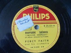 Polka Chinoise De Mitch Millet Et Rhapsodie Suèdoise De Percy Faith - 78 Rpm - Schellackplatten