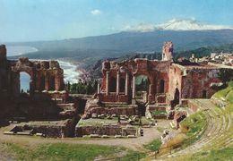 Taormina - Scene Of The Greek Theatre.   Italy.  # 06439 - Italy