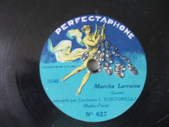 Sphinx Par Albert Carrara Et Marche Lorraine Par Orchestre Tortorella Disque à Saphrir Ou 78T Petit Format - Formatos Especiales