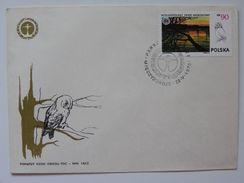 National Parks Wielkopolski  Poland / Owl  / Poland   / FDC 1976 Year - Hiboux & Chouettes