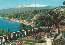 Taormina - Panorama  And Mt. Etna    Italy.  # 06444 - Italy