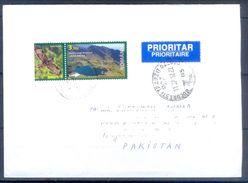 D390- Postal Used Cover Post From Romania Birds. To Pakistan. - Romania