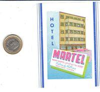 ETIQUETA DE HOTEL  -HOTEL MARTEL   -PALMA DE MALLORCA - Hotel Labels