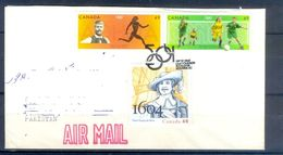 D434- Postal Used Cover Post From Canada To Pakistan. Joint Issue. Sports. - Canada