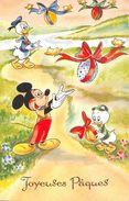 ¤¤  -  WALT-DISNEY Productions  -  Joyeuse Pâques  -  Mickey, Donald, Riri, Oeufs , Oiseaux  -  ¤¤ - Disney