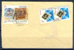 D436- Postal Used Cover Post From India To Pakistan. Animals. Stamp On Stamp. - India