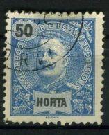 HORTA (  POSTE ) : Y&T N°  21  TIMBRE  BIEN  OBLTERE   , A  VOIR . - Horta