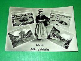 Cartolina Saluti Da Alba Adriatica - Vedute Diverse 1958 - Teramo