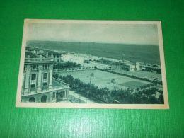 Cartolina Riccione - Tennis, Piazzale E La Sede Del Club Nautico 1935 - Rimini
