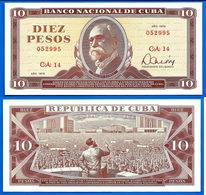 Cuba 10 Pesos 1978 NEUF UNC Que Prix + Port Maximo Gomez Kuba Pesos Skrill Bitcoins OK - Cuba
