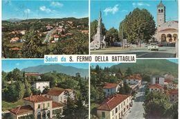 ANN. TARGHETTA SU CART. SALUTI DA S.FERMO DELLA BATTAGLIA - Souvenir De...