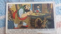 CPSM DISNEY LES MAUVAIS SUJETS JOHN LE RENARD ET GEDEON VENDENT PINOCCHIO A STROMBOLI LE MONTREUR DE MARIONNETTES - Autres