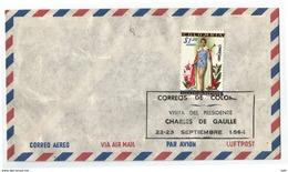 COLOMBIA CONMEMORATIVO 1964 - SOBRE ENVELOP DE CORREO AÉREO ADAPTADO PARA LA CONMEMORACION DE LA VISITA DEL PRESIDENTE - Colombia