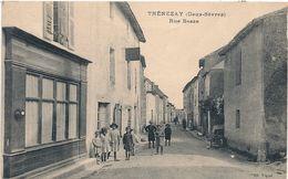 Cpa 79 Thénezay Rue Basse - Thenezay