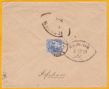 1909 - Enveloppe De Bombay, Inde, GB Vers Ispahan, Perse, Iran - VIA BOUCHIR, Bouchir, Iraq - India (...-1947)
