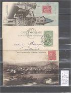 Lettre Cachet Convoyeur Clermont à Langogne Et Retour - 3 Piéces Dont Une Indice 6 - Postmark Collection (Covers)