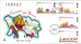 JERSEY -  Blumenfest 1970 (Erstagsbrief / FDC) - Jersey