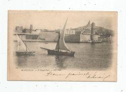 Cp,  13 , MARSEILLE , L'avant Port , Bateaux , Voiliers , Dos Simple , Voyagée 1902 - Marseilles