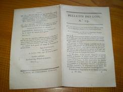 Lois An XIII Napoléon:Traité D'alliance France Suisse.Export Armes De Liège.Prison Abbaye De Fontevraud.Nominat Au Sénat - Décrets & Lois