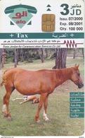 TARJETA DE JORDANIA DE UN CABALLO DE TIRADA 100000  (HORSE-CABALLO) - Jordania
