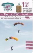 TARJETA DE JORDANIA DE UNOS PARACIDISTAS DE TIRADA 200000 - Jordania
