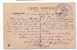 """1915 - CARTE FM Avec CACHET """"GROUPEMENT DES PRISONNIERS DE GUERRE DU HAVRE"""" - Postmark Collection (Covers)"""