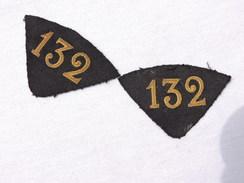 132°  REGIMENT ARTILLERIE 14-18  : PATTES DE COL OFFICIER - Uniformes