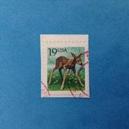 1991 STATI UNITI D'AMERICA USA FRANCOBOLLO USATO STAMP USED - ORDINARIO FAUNA ANIMALI CAPRIOLO 19 - United States