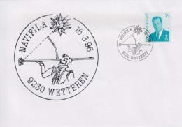 Enveloppe (1996-03-16, 9230 Wetteren) - NAVIFILA 1996, Sextant - 01 - Poststempels/ Marcofilie