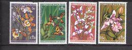 British Honduras Mi 205-208 MLH 1968 Orchids / Flowers - Honduras Britannico (...-1970)
