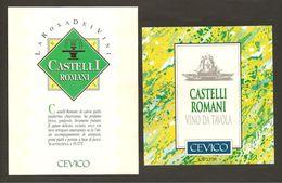 ITALIA - 2 Etichette Vino CASTELLI ROMANI Doc Cantine CEVICO Bianco Del LAZIO - Fontana - Witte Wijn