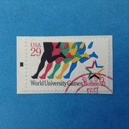 1993 STATI UNITI D'AMERICA USA FRANCOBOLLO USATO STAMP USED - SPORT CORSA GIOCHI UNIVERSITARI BUFFALO - United States