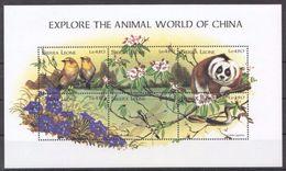 Sierra Leone 1998  / Birds Flowers Mammals MNH Aves Flores Mamíferos Blumen Vögel / Cu3835  40-15 - Pájaros