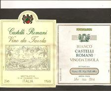 ITALIA - 2 Etichette Vino CASTELLI ROMANI Cantine E.I. E FONTANA DI PAPA Bianco Del LAZIO - Witte Wijn